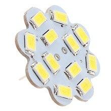 10 шт. G4 светодиодный 12 В 3 Вт 12* SMD5630 теплый белый/белый светодиодный лампада лампы G4 12 В для дома