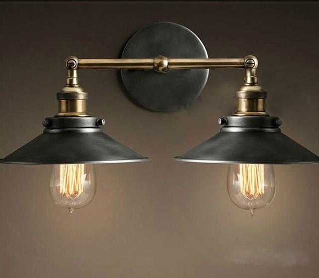 Famous Vintage éclairage industriel Loft style lampe abat jour Restaurant  VL75