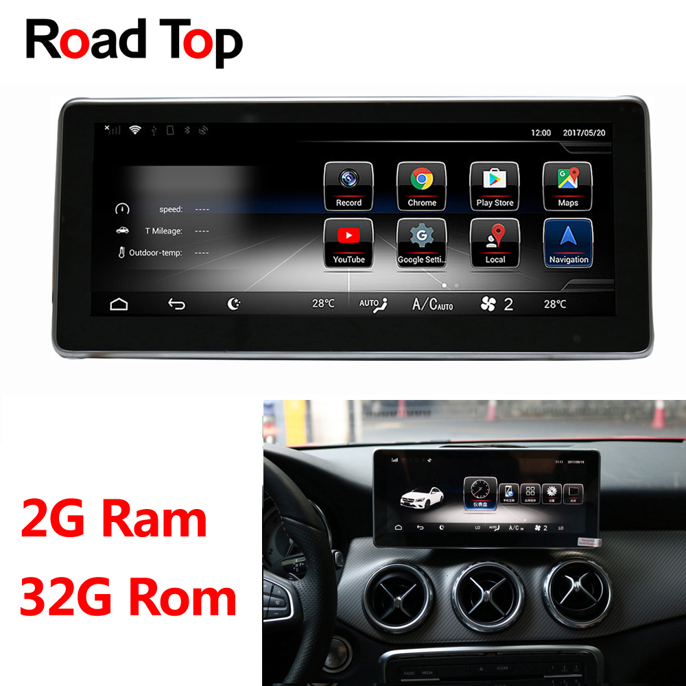 10.25 Android 8.1 Octa 8-Core CPU 2+32G Car Radio WiFi GPS Navigation Bluetooth Head Unit Screen for Mercedes Benz A Class W176