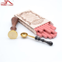 Christmas Promotion Pink Sealing Wax Sticks With Wax Spoon For DIY Mansucripting Invitation Decoration Custom Made