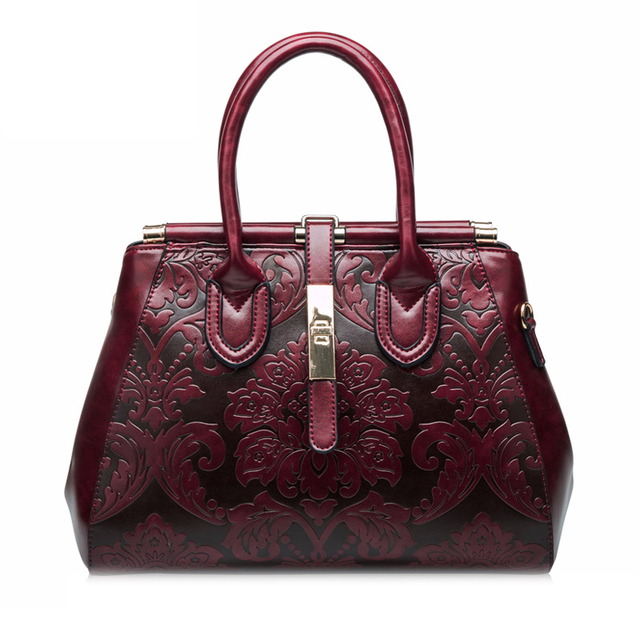 3af2961996b6 Women tote bag handbag genuine leather fashion shoulder bag elegant retro  Chinese style handbag Crossbody bag
