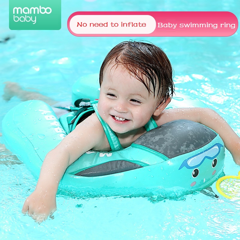 TPU cover waterproof Baby Swimming Ring float Children Waist No inflation Floats Swimming Pool Toy for