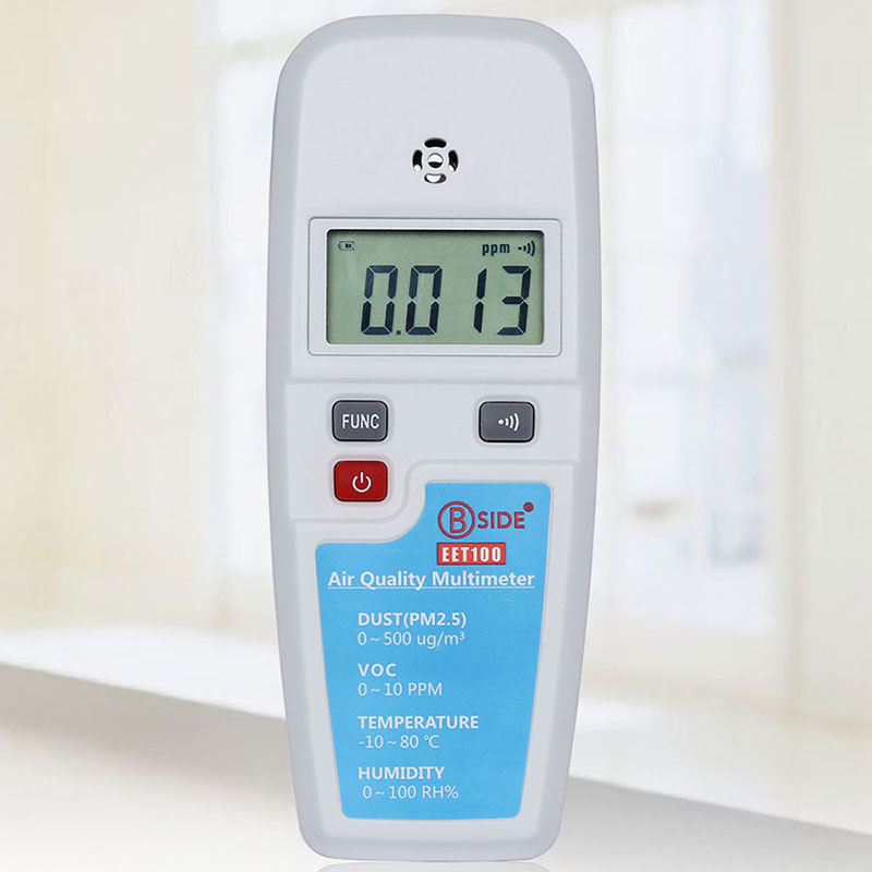 Multi-functional Air Quality Monitor Dust PM2.5 VOC Formaldehyde Detector Temperature Humidity Meter Haze Air Analyzer az 7788 desktop co2 temperature humidity monitor data logger air quality detector