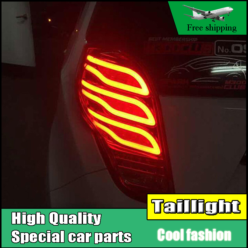 Car Styling Taillight Case For Chevrolet Spark Tail Lights 2010-2014 New Spark LED Tail Light Rear Lamp DRL+Brake+Park+Signal jgd brand new styling for nissan s15 tail lights 1999 2014 led tail light rear lamp led drl singal car lights