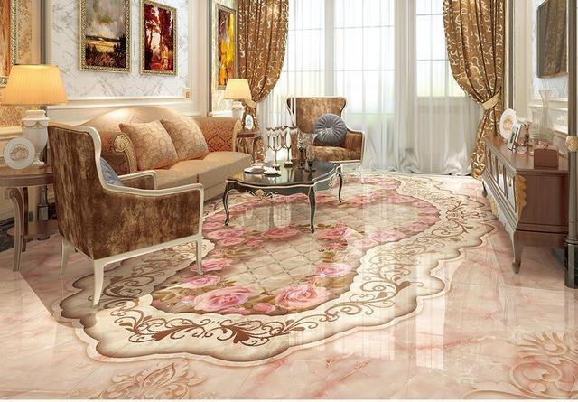 Marmeren Badkamer Vloer : Custom foto vloer behang d marmer patroon parq hotel badkamer