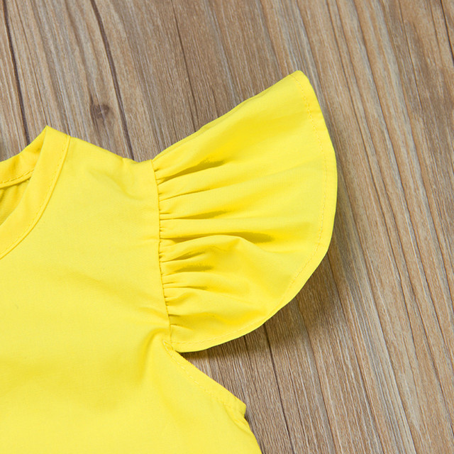 Fly Sleeve Solid Bow Dress