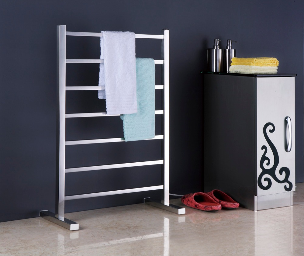 1pc Heated Towel Rail Holder Bathroom Accessories Towel: New Free Standing Towel Warmer Electric Heated Towel Rail