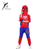 3pcs Spiderman Baby Boys Clothing Sets Cotton Sport Suit For Boys Clothes Spider Man Cosplay Costumes