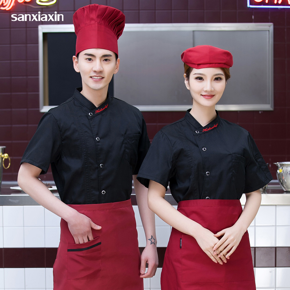 Food Service Work Coats High Quality Letter Embroidery Light And Breathable Restaurant Hotel Uniform After Kitchen Chef Jackets