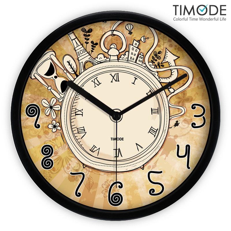 Online buy wholesale rustic kitchen designs from china - Grande horloge murale design ...