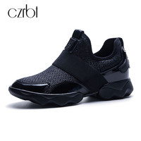CZRBT Fashion Platform Shoes Women Top Quality Casual Shoes Spring Autumn Comfortable Round T Flat Shoes