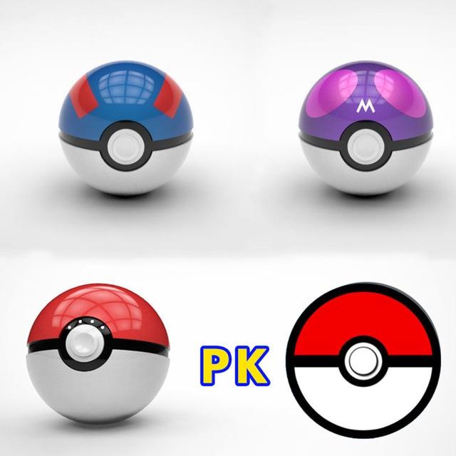 12000 мАч Pokeball Go Power bank Pokeball 12000 МАч Powerbank СИД Быстро Заряда Телефона Power Bank Мультфильм 3D Внешняя Батарея