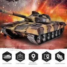 2.4G 1:16 Metal Remote Control Battle Walker Tank Model RC Toy For Kids Children RC Tank(China)