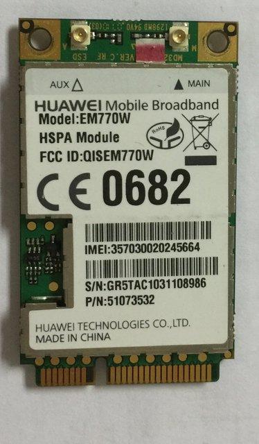 Desbloqueado huawei em770w wwan 3g hsdpa sem fio wi-fi pci-e cartão de wcdma/gsm/edge velocidade do hight