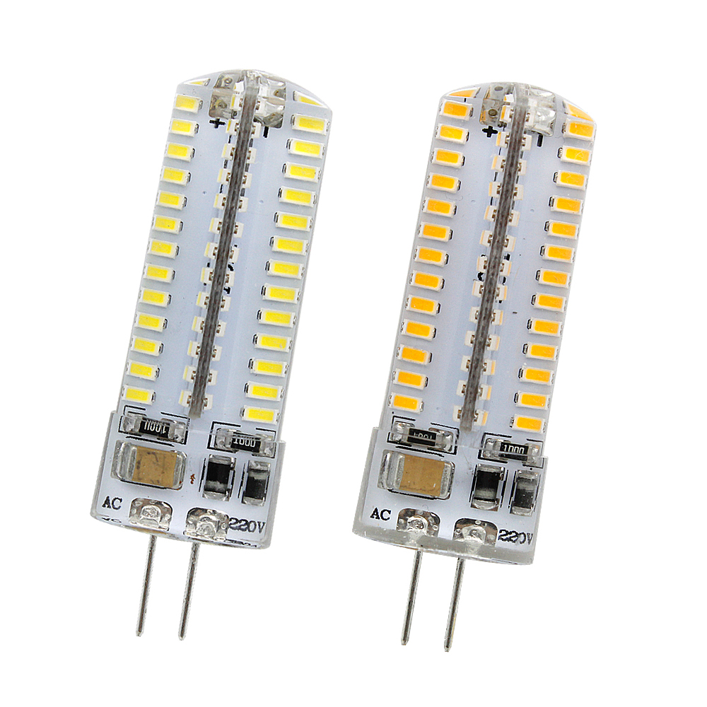 DC 12V AC 110V 220V G4 LED Bulb High Power 1W 3W 5W Lamp SMD3014 Crystal Silicone Light Replace Halogen Spotlight Chandelier