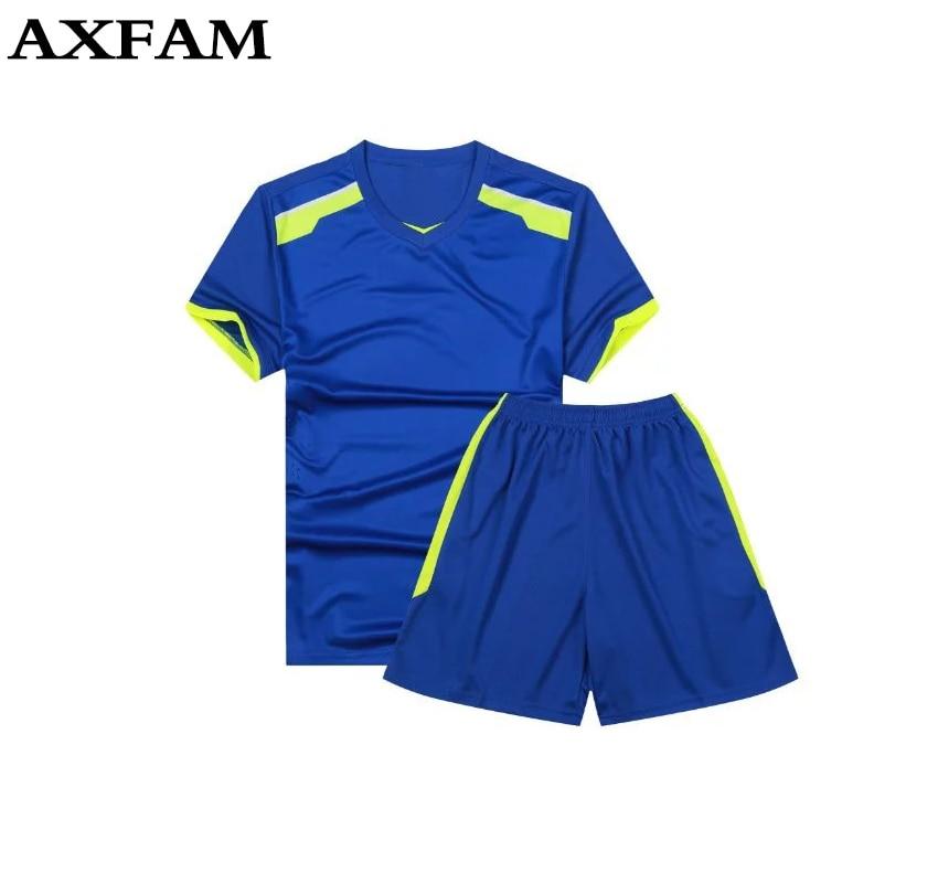 Boys mens soccer sets breathable football jerseys younth for Custom football jersey shirts