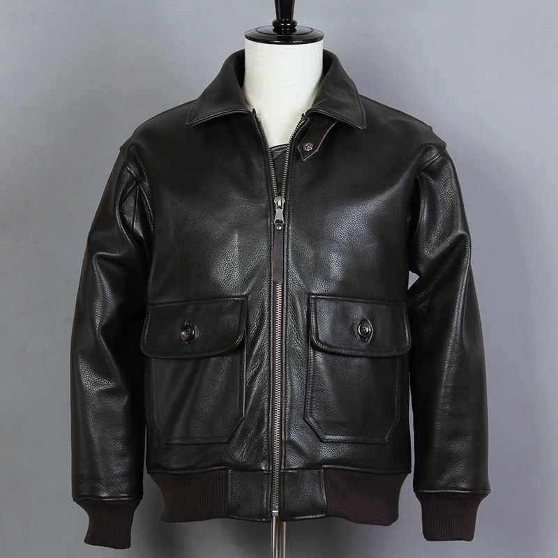 Avirex fly меховым воротником из натуральной кожи куртка Для мужчин из коровьей кожи G1 ВВС полета куртка Курточка Бомбер мужской зимнее пальто