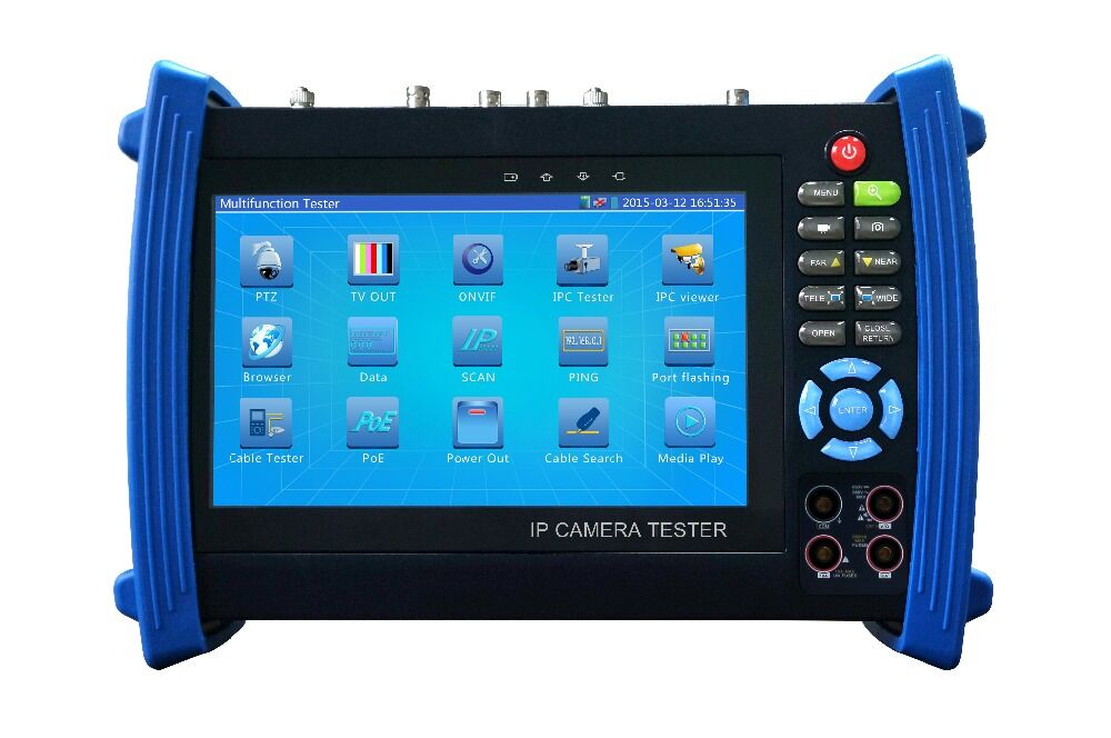IPC8600MOVTADHS Nuovo 7 pollice touch screen Tester CCTV per 4 K, H.265, supporto IP, CVI, TVI, AHD, telecamere analogiche all in one tester