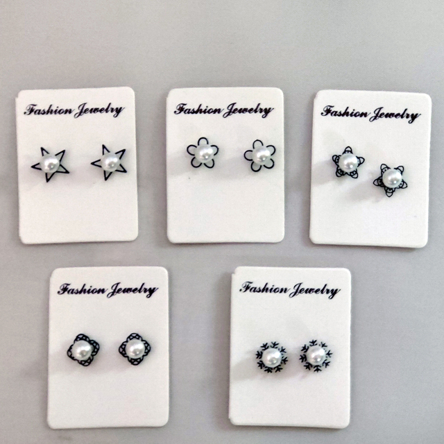 New flower Magnet earring Fake earring Stud non piercing magnetic ear jewelry 5pairs pack.jpg 640x640 - New flower Magnet earring  Fake earring Stud non piercing magnetic ear jewelry 5pairs/pack
