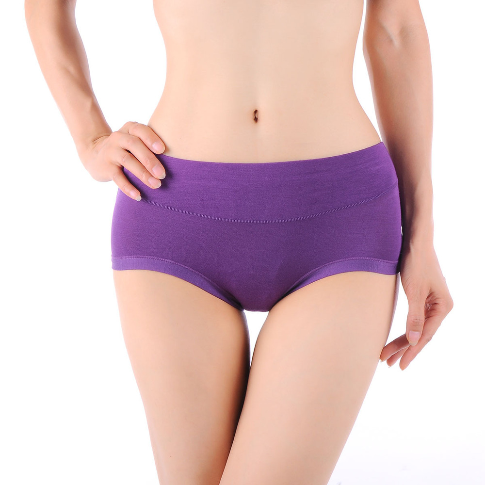 Modal antibacterial ladies underwear Ms non-trace big yards waist female underwear briefs underwear lady briefs