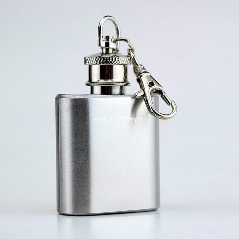 100 stks 1 oz Mini Heupfles Rvs Vodka Fles Whisky Heupfles Draagbare Alcohol Flagon Sleutelhanger Drinkware Kolf-in Heupflessen van Huis & Tuin op  Groep 1