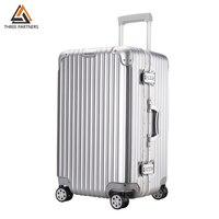 Aluminum Frame Trolley Luggage TSA Customs Lock Hardside Rolling Spinner Luggage Carry On Suitcase Hard Shell Travel Box NEW