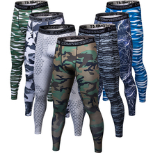 Pantalones de camuflaje con estampado 3D para hombre, pantalones deportivos para hombre, pantalones de compresión, mallas de culturismo para hombres