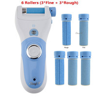 Hot Rechargeable Foot Care Tool 6 Roller Electric Pedicure Peeling Dead Skin Removal Feet Care Machine