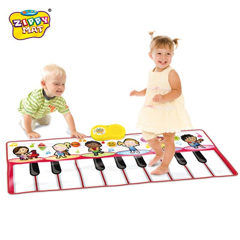À Vendre! Clavier de Piano couverture claviers portables tapis de danse jouets musicaux outil d'éducation précoce jouets 17 clés 120*46 cm - 3