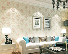 beibehang Refined wallpaper fashion non-woven fabric 3D luxury living room bedroom European pastoral papel de parede wall paper