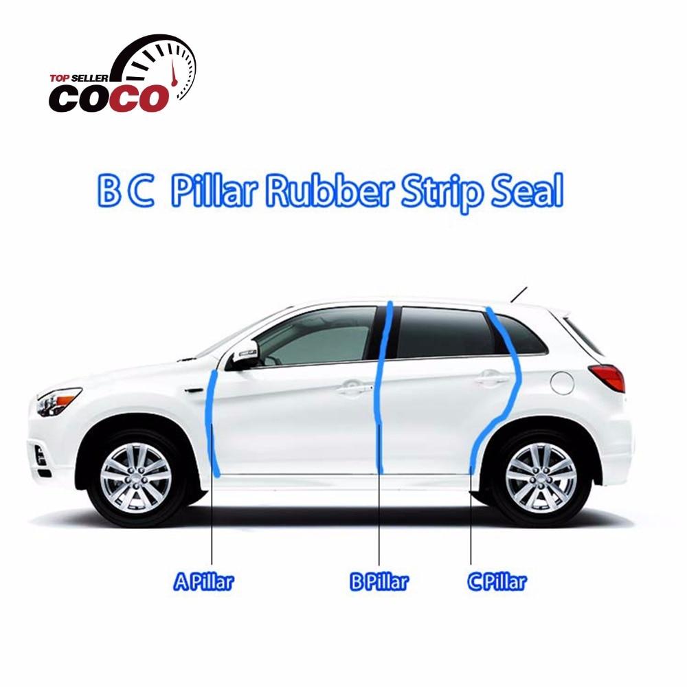 ФОТО B C Pillar Kit One-Side Sedan Hatch For Lada/Renault/Toyota/Skoda/VW/Hyundai/Nissan/Kia/Gaz Back Rubber Trim Sound Insulation