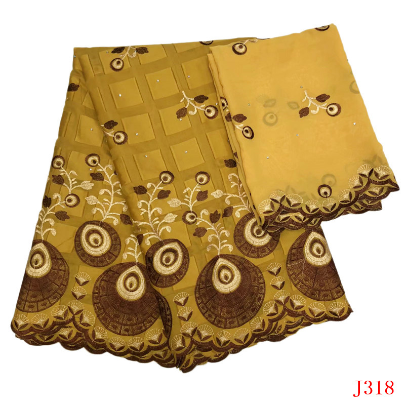 Nigerian Lace Fabrics 2019 Bazin Riche Getzner Gold Nigeria Cotton Embroidered High Quality Wedding African Lace Fabric HA318-in Lace from Home & Garden    1