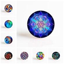 Fractal Art Mandala Round Photo Cameo Jewelry Findings Fit 25mm Blank Pendant Bracelet Brooch