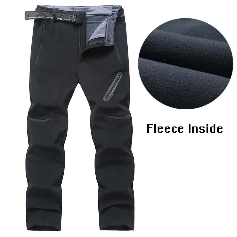 135 kg peut porter des hommes randonnée pantalon doux Shell chaud extérieur pantalon grande taille 7XL 8XL 9XL polaire doublure hiver randonnée Camping pantalon