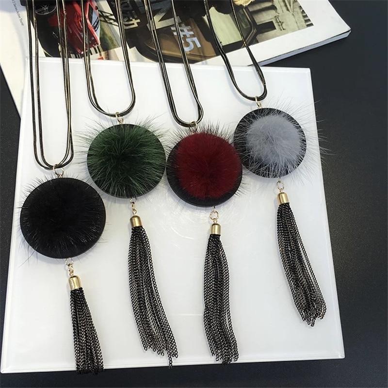 Vintage Retro Borla Collar Largo Multicapa Oro Negro 90s 00s Mujeres Regalo De Amor