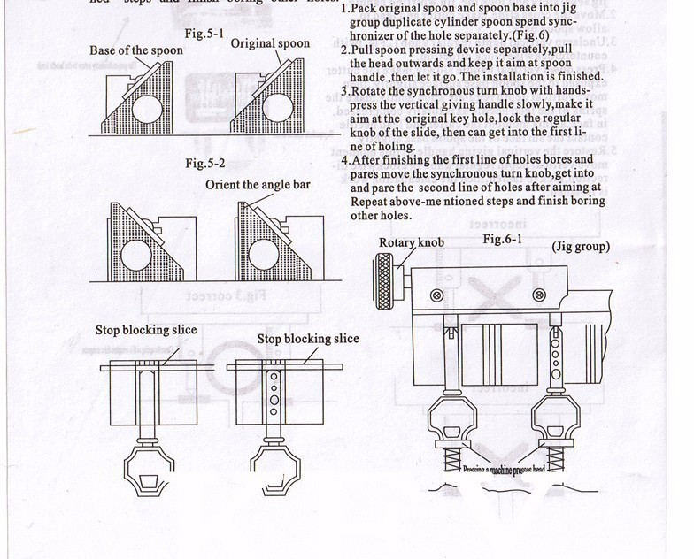 368A Key Cutting Duplicated Machine Instruction 3