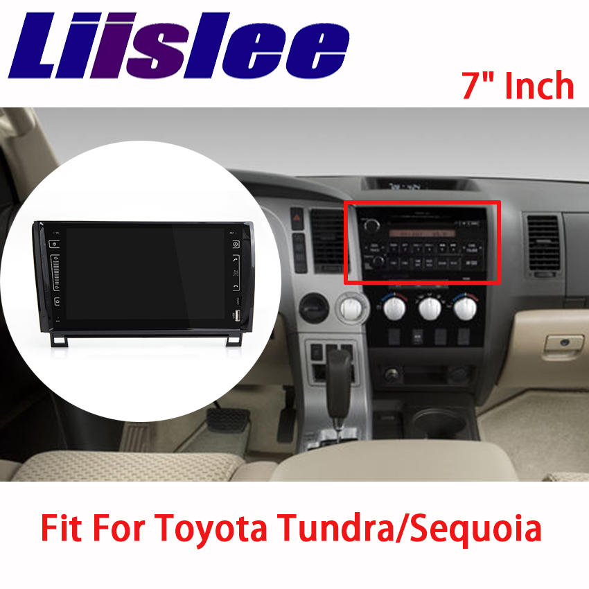 Liislee For Toyota Tundra Sequoia 2007 2015 Car Audio Video Navigation GPS Multimedia Stereo Player