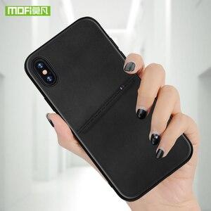 Image 5 - MOFi dla iPhone 7 8 X etui na iPhone 7 8 Plus torba etui na karty etui dla iphonea X 10 skrzynki pokrywa PU skóra luksusowy portfel na karty tylna okładka