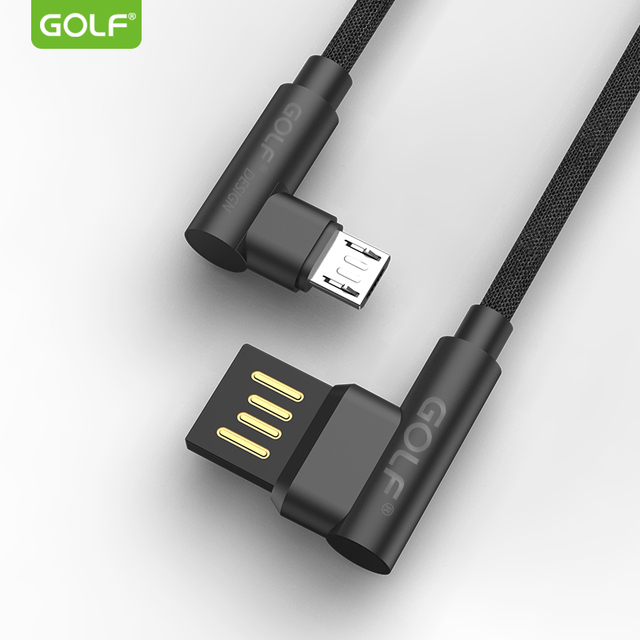 GOLF Metal Fabric Fast USB Charging Data Cable For iPhone 6S 7 8 Plus X XR XS Max 5S Samsung LG Honor Redmi OnePlus Charger Wire