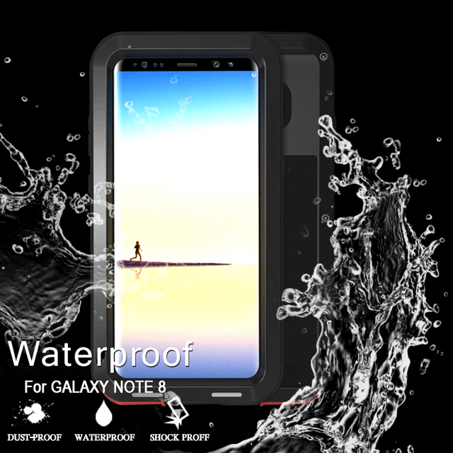 best service 26c10 f10e4 US $35.3 |Waterproof Case For Samsung Galaxy Note 8 Case Original Cover  Shockproof Case For Galaxy Note 8 Luxury Aluminum Protection Cases-in  Fitted ...