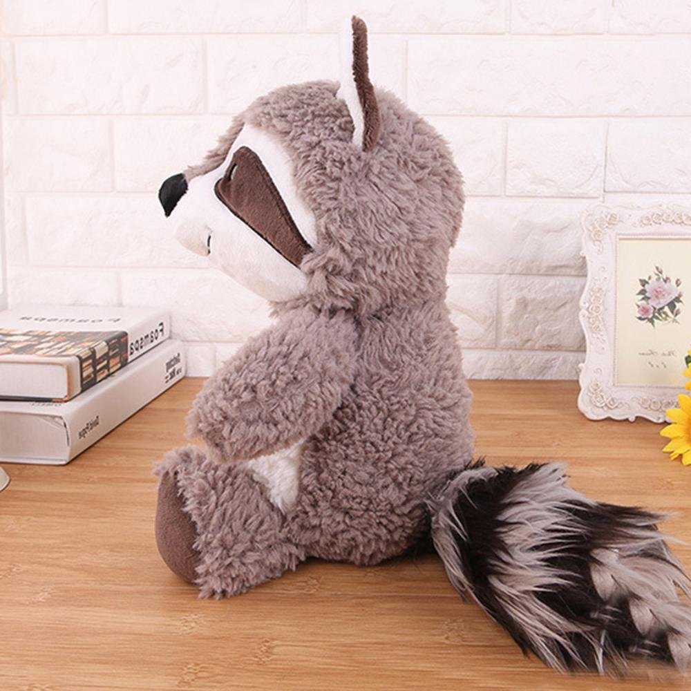 Image 5 - 25cm 35cm 55cm Gray Raccoon Plush Toy Lovely Cute Soft Stuffed Animals Doll Pillow For Girls Children Kids Baby Birthday Gift-in Stuffed & Plush Animals from Toys & Hobbies