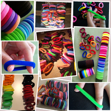 98mm Mix Colors Baby Girls Kids Children Elastic Hair Ties Bands Rope Ponytail Holders Headband Scrunchie Accessories