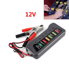Car Motorcycle LED Digital Battery Alternator Tester 6 LED Display Indicate 12V  12v car motorcycle digital battery alternator load tester 6 led display vehicle battery tester free shipping