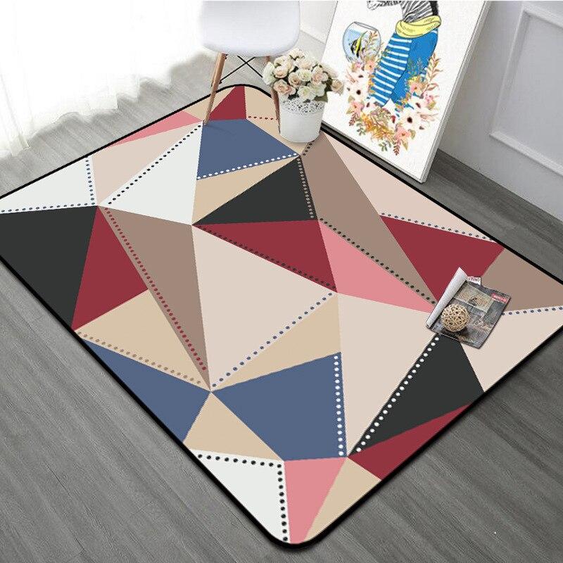 Style moderne salon tapis tapis maison décoratif coloré géométrique tapis anti-dérapant épaissir Rectangle chambre lit côté Floormat