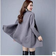 Brand New Womens Long Section Knit Cardigan Long Sleeves Lapel Trench Fashion Female Sweater Windbreaker Knitting Coats J1638-7