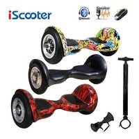 IScooter hoverboard 10 pulgadas Bluetooth 2 ruedas auto equilibrio Scooter Eléctrico dos ruedas inteligentes con llave remota y monopatín LED
