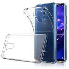 Stylish Strong Protective Phone Case For Huawei Mate 20 Lite MaiMang 7 Soft TPU Rubber Gel Bumper Transparent Back Cover stylish protective plastic back case for huawei 3x golden grey