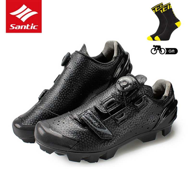 Santic MTB Cycling Shoes Men Breathable Mountain Bike Sneakers Riding Shoes Self Locking Bicycle Sport Shoes