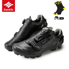 Santic MTB Cycling Shoes Men Breathable Mountain Bike Sneakers Riding Shoes Self-Locking Bicycle Sport Shoes Zapatillas Ciclismo