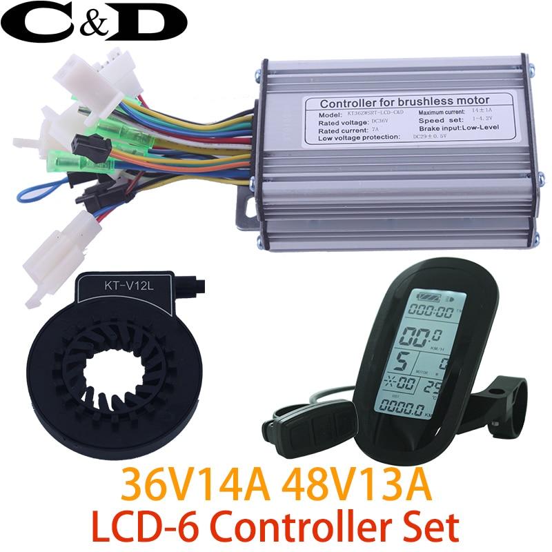 36V 250W 48V 350W Controller LCD LCD6 Display Meter PAS Set E bike Conversion kit Dual